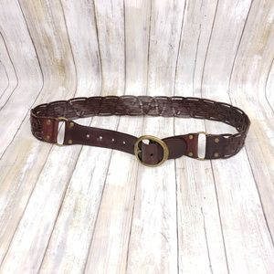 Woven Boho Leather Belt